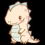 ドット模様の恐竜