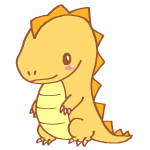 黄色い恐竜