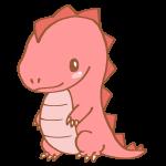 ピンク色の恐竜