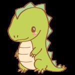 黄緑色の恐竜
