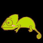 緑色のカメレオン