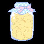 瓶詰クッキー(ハート)