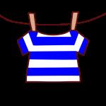 干された半袖シャツ