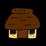 かやぶき屋根のお家
