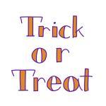 「 Trick or Treat 」文字