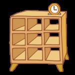 木製のオープンラック