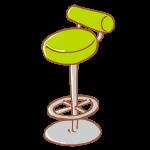 黄緑色のスツール