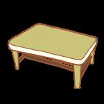 シックなカラーリングのテーブル