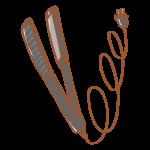 シンプルな黒のヘアアイロン