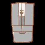 グレーの冷蔵庫