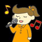 歌う女の子・女性