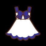 白×青ワンピース