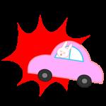 事故に遭ったうさぎの運転手