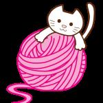 毛糸玉とネコ