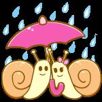 傘とかたつむり