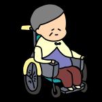 車いすに乗るおばあちゃん