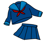 冬のセーラー服