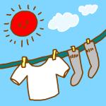 晴れた日の洗濯