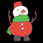 クリスマス仕様のゆきだるま