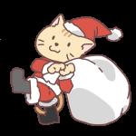 猫のサンタ