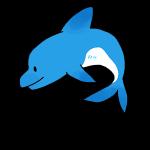 青いイルカ