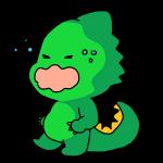 泣いてる顔の恐竜