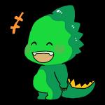 笑ってる顔の恐竜