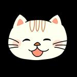 笑ってる猫