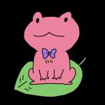 ピンクのカエル