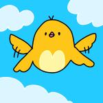 飛んでる黄色の鳥