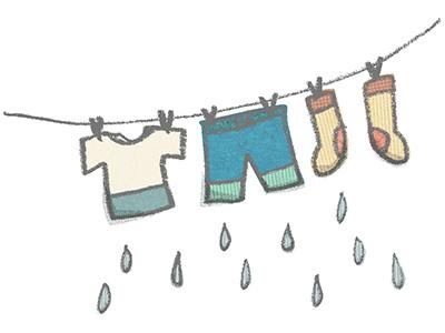 フロントスタッフの日常*雨の日の洗濯問題☹