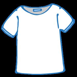 無料 無料 便せん : シャツ(白) の無料イラスト