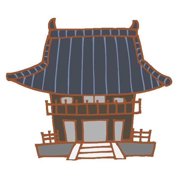 お寺のイラスト | かわいいフリー素材が無料のイラストレイン