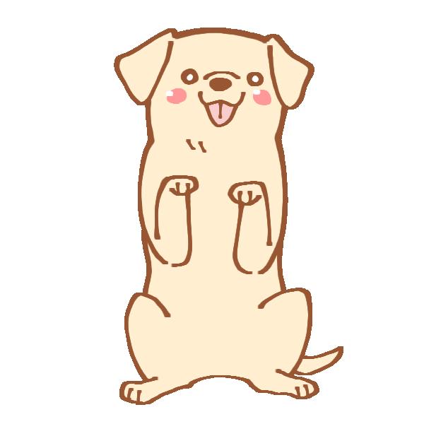 ちんちんをする犬のイラスト | かわいいフリー素材が無料のイラストレイン
