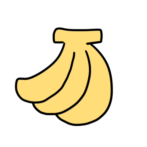 バナナのイラスト | かわいいフリー素材が無料のイラストレイン