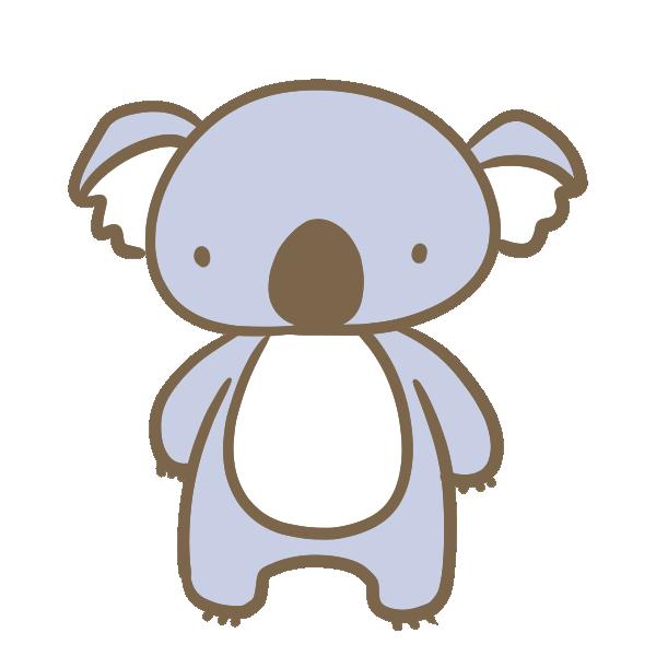 立ったコアラ のイラスト | かわいいフリー素材が無料のイラストレイン