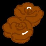 バラ型のチョコレート