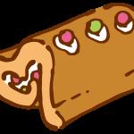 ハートのロールケーキ