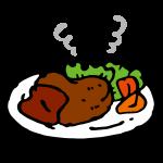 ハート型ハンバーグ