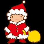 サンタに仮装した子ども