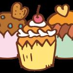 ハートのカップケーキ3
