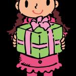 プレゼントをもらった女の子
