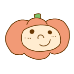 男の子のかぼちゃヘッドです。