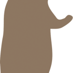 くま-シルエット01