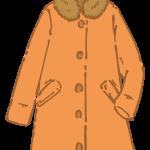 ファー付きコート