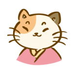 着物を着た三毛猫4