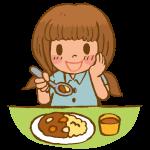 ごはんを食べる女の子2