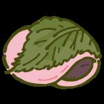 桜もち(長命寺タイプ・二つ折り)
