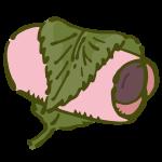 桜もち(長命寺タイプ・円筒型)