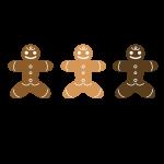3人のクッキーマン